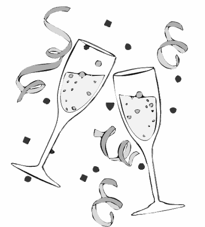 New Year S Cartoon Clipart.
