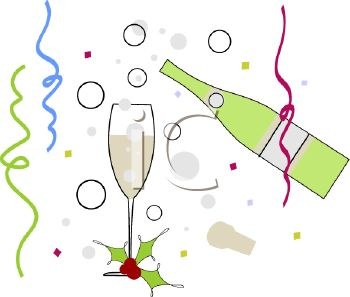 Champagne Toast to the New Year.