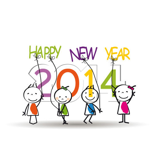 New Year Cartoon Images.