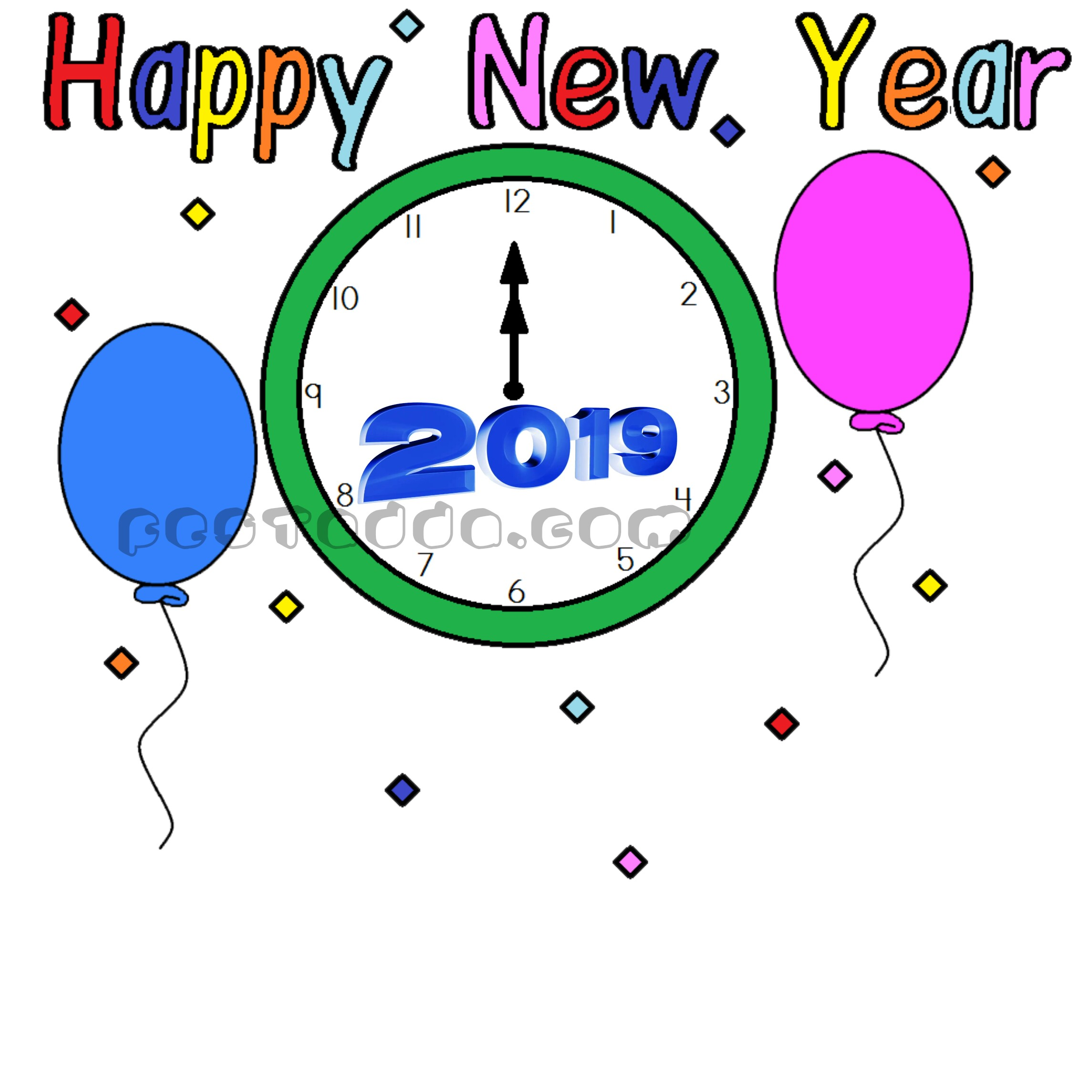 Free Happy New Year Clipart 2020 Images Pics For Whatsapp.