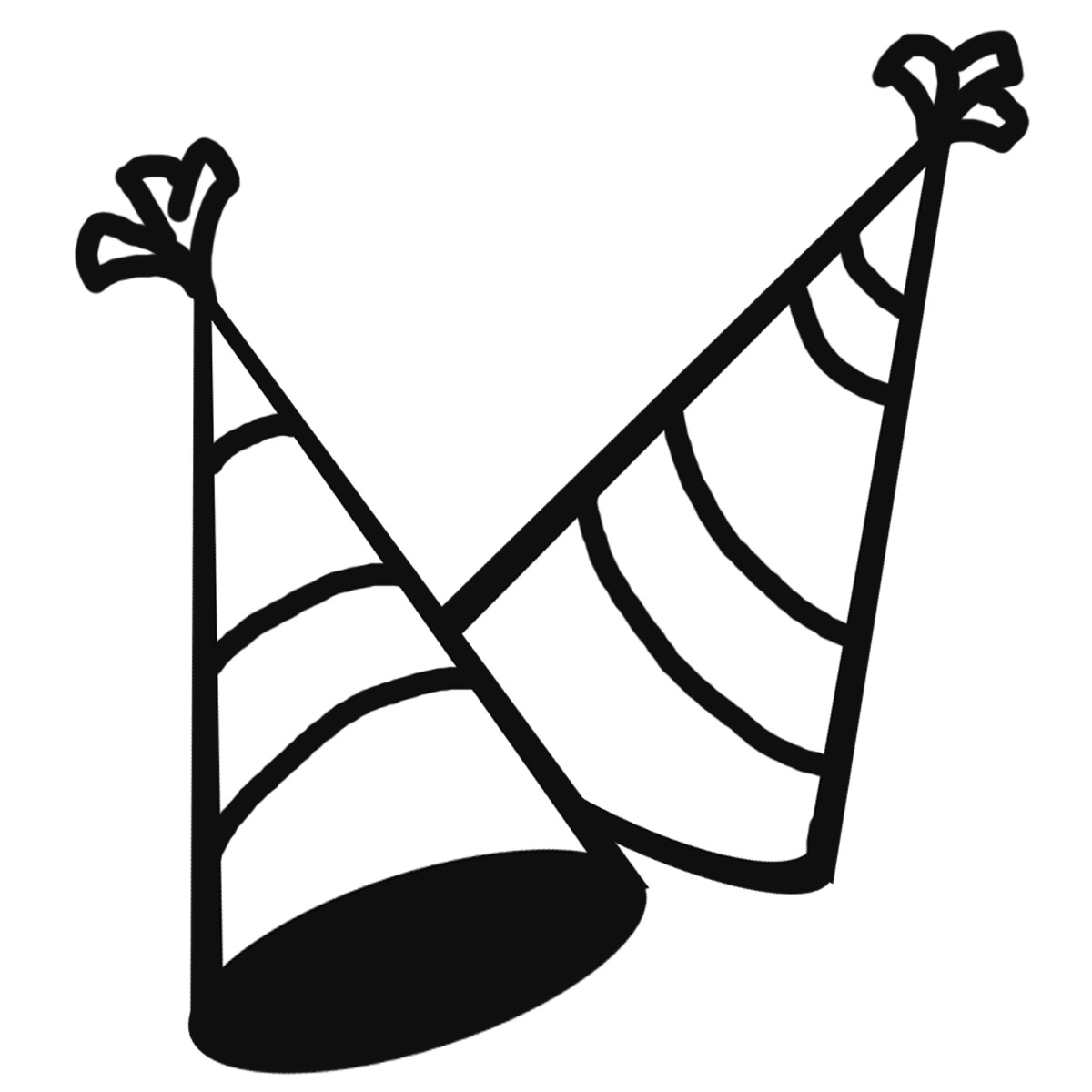 Clip Art: New Year's Eve Party Horns (Color).
