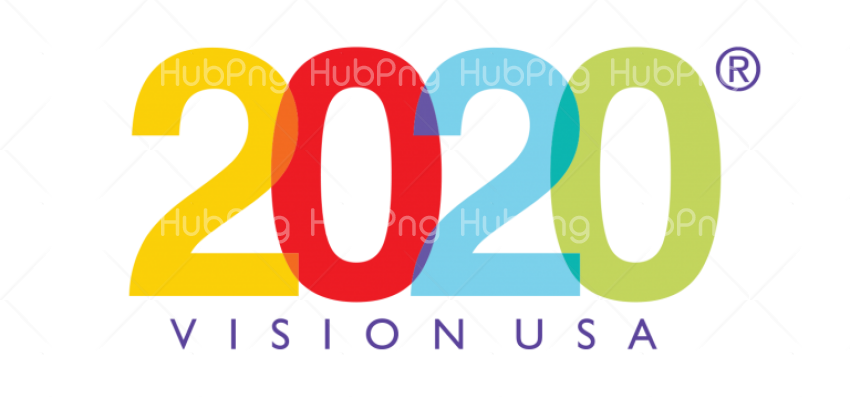 happy new year 2020 png clipart Transparent Background Image.