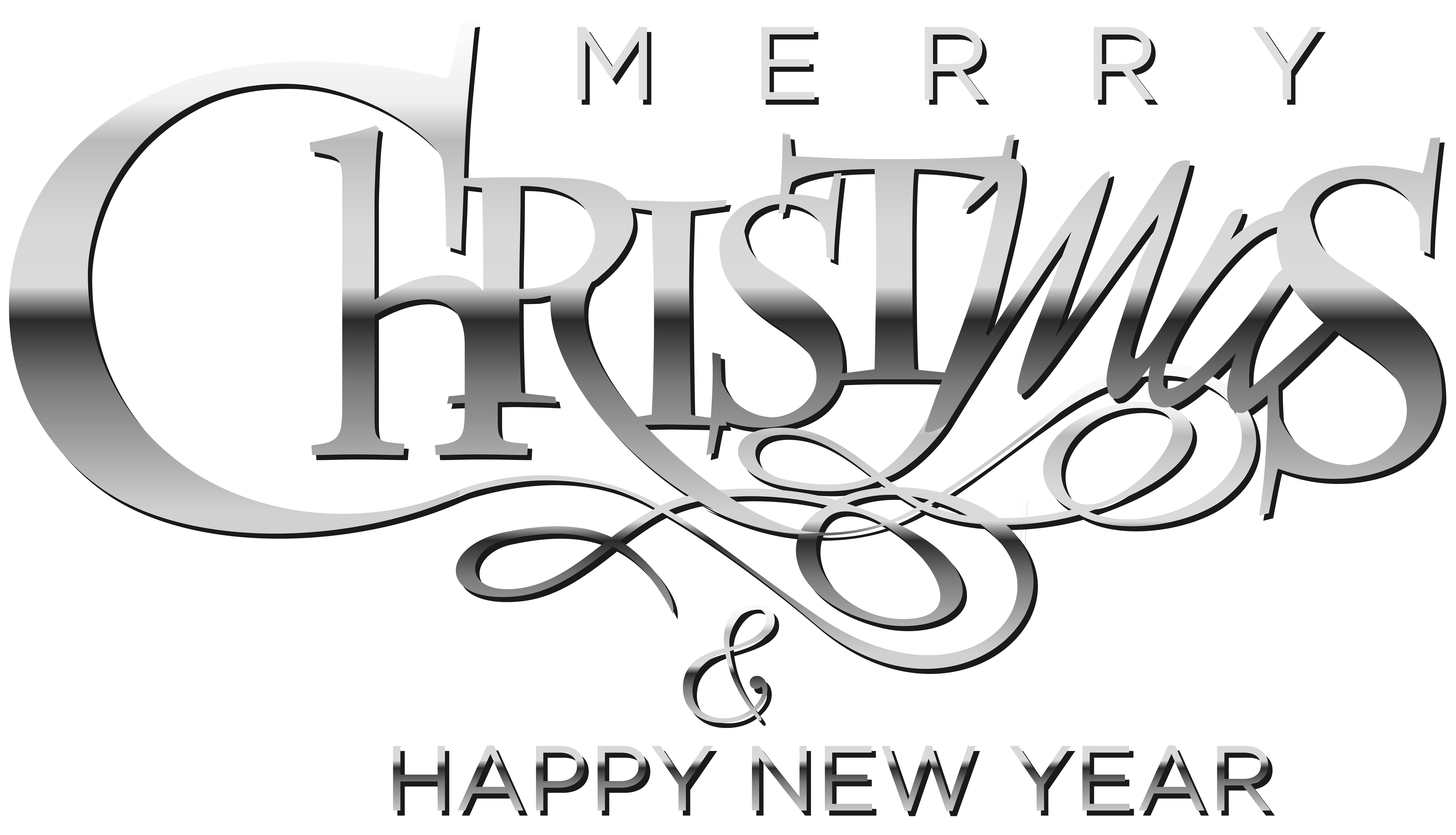 Merry Christmas And Happy New Year Clipart Png.