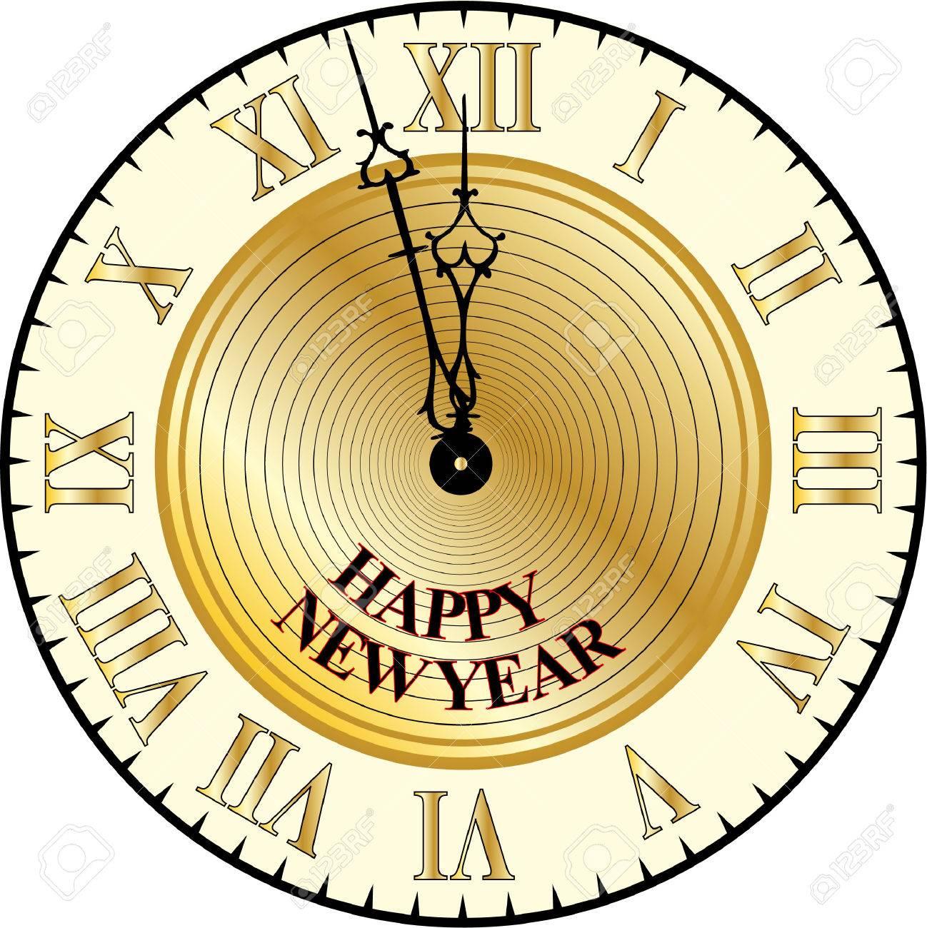 HAPPY NEW YEAR CLOCK.