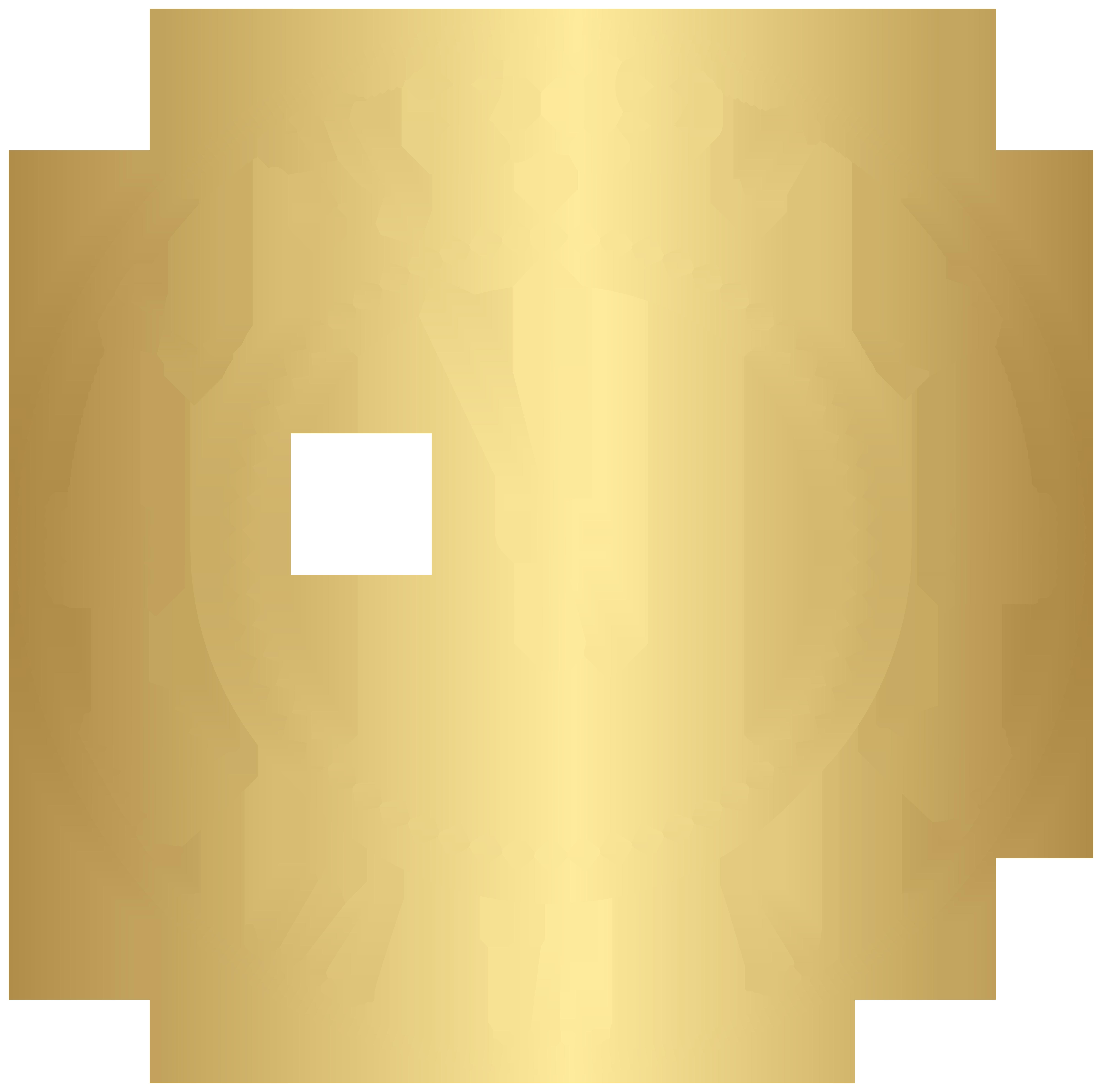 2019 Decorative New Year Clock Clip Art.