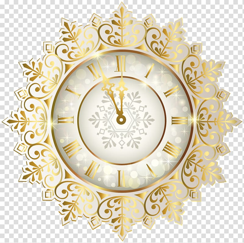 New Year\'s Day Clock New Year\'s Eve , time transparent.