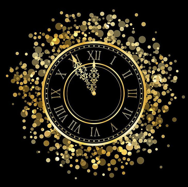 New Years Eve Countdown Clock PNG, Clipart, Black, Christmas.