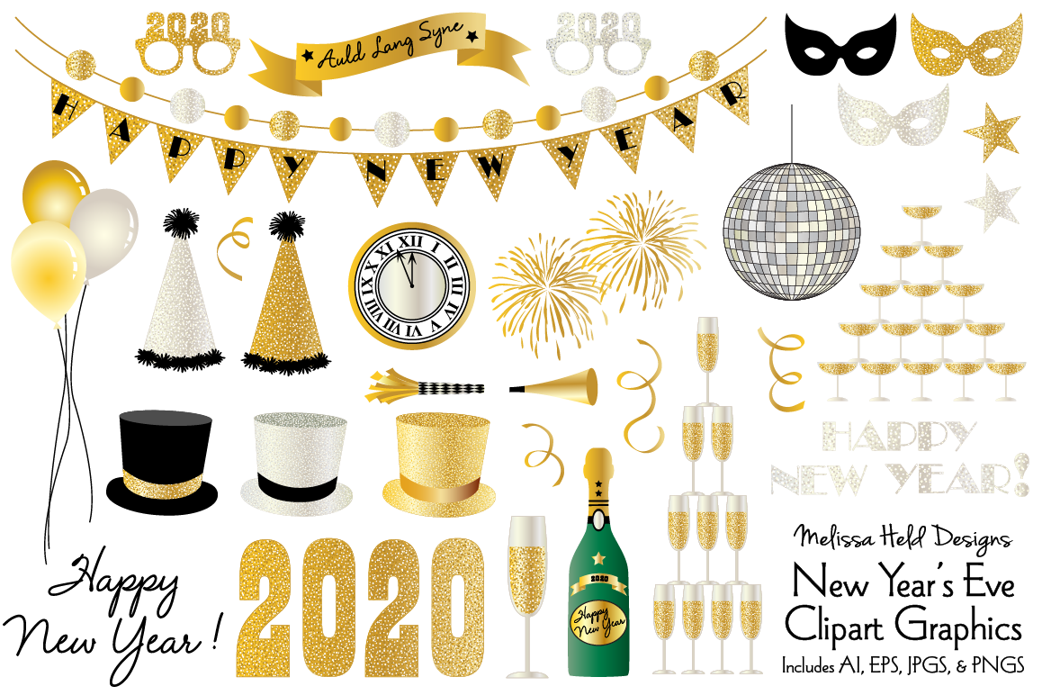 New Years Eve 2020 Clipart.