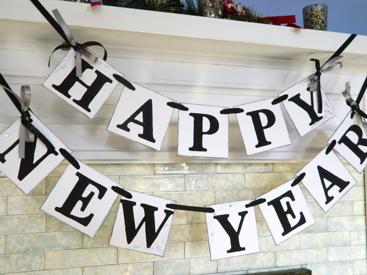 Happy NEW Year Banner New Years Eve Party Decorations Photo.