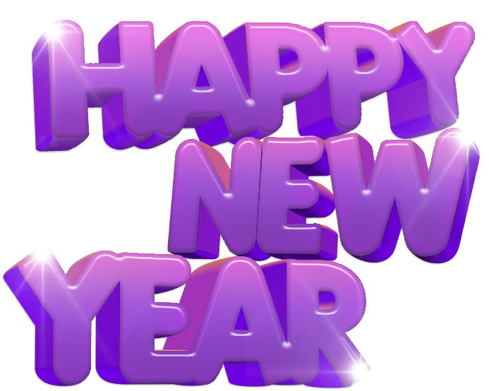 Download Happy New Year PNG HD For Designing Projects.