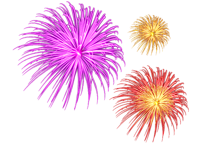 New Year Fireworks PNG (Isolated.