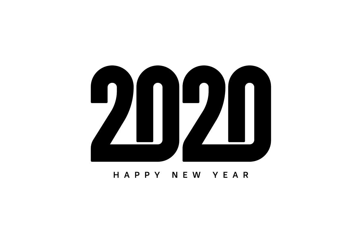 Happy New Year 2020 Logo.