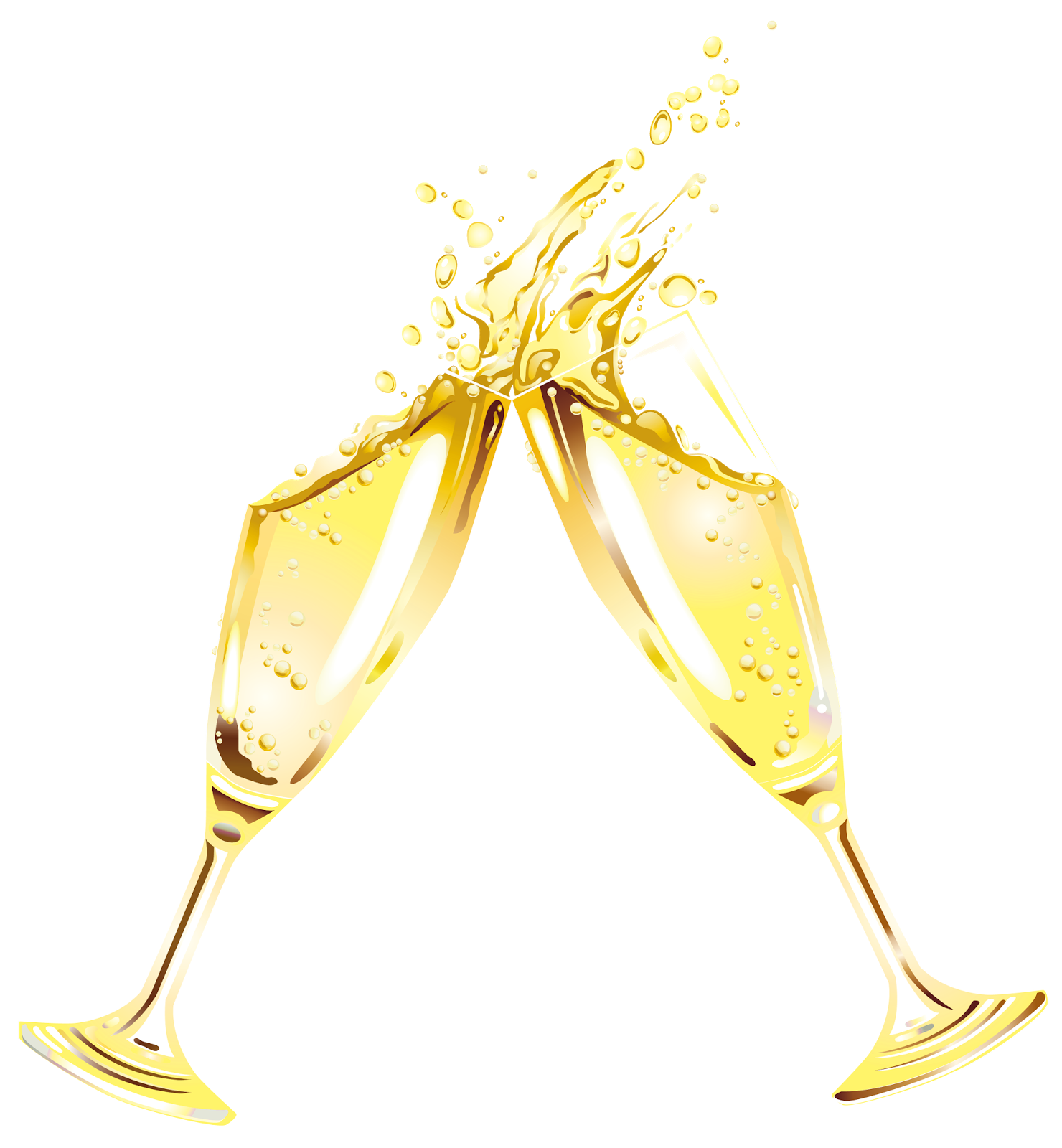 New year champagne glass clipart transparent.