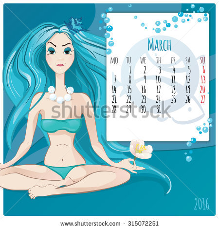 2016 New Year Calendar Grid Page Stock Vector 317828933.