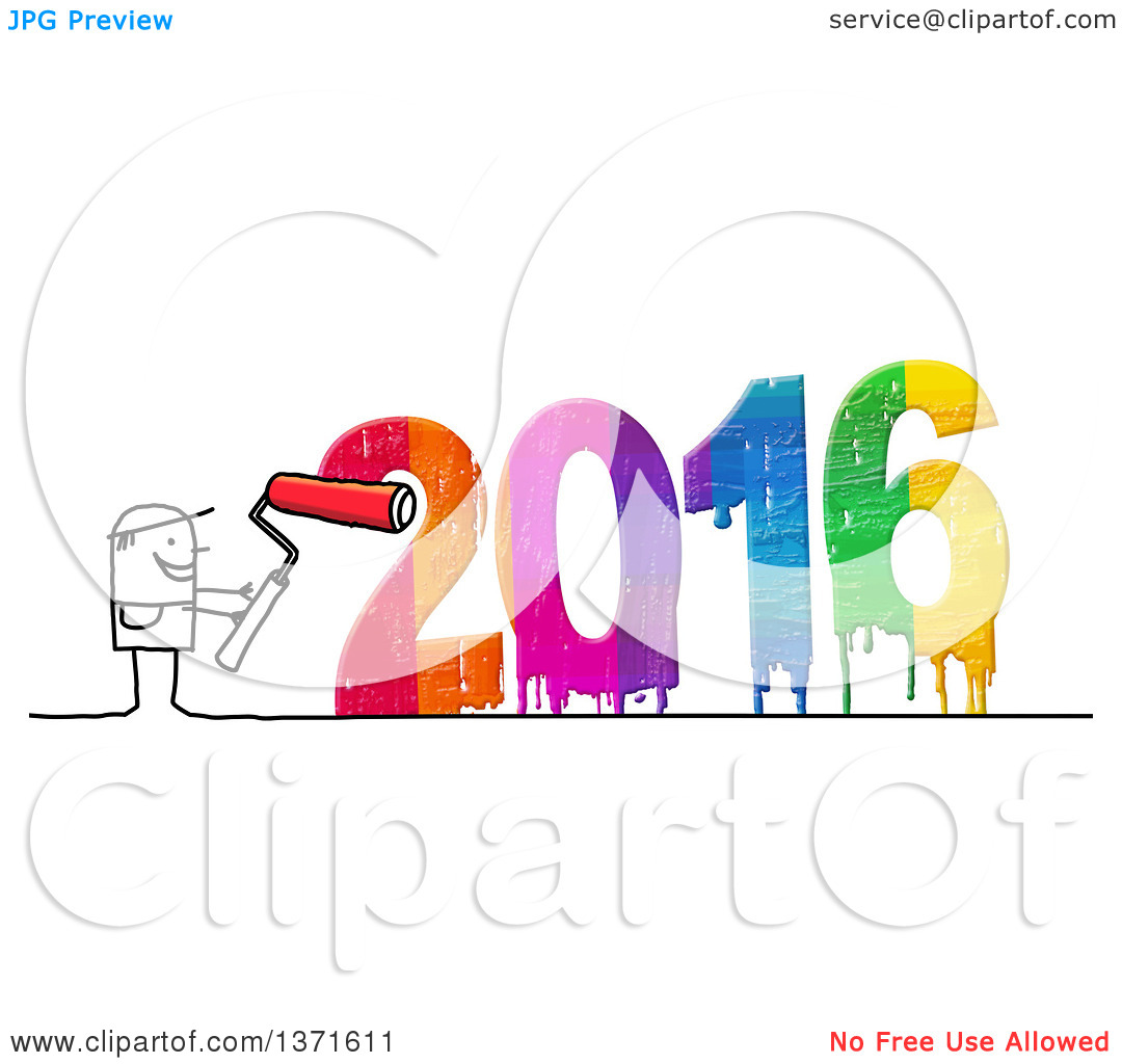 New Year Paint Clipart.