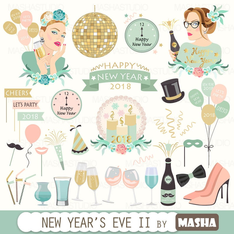 New Year's Eve clipart:
