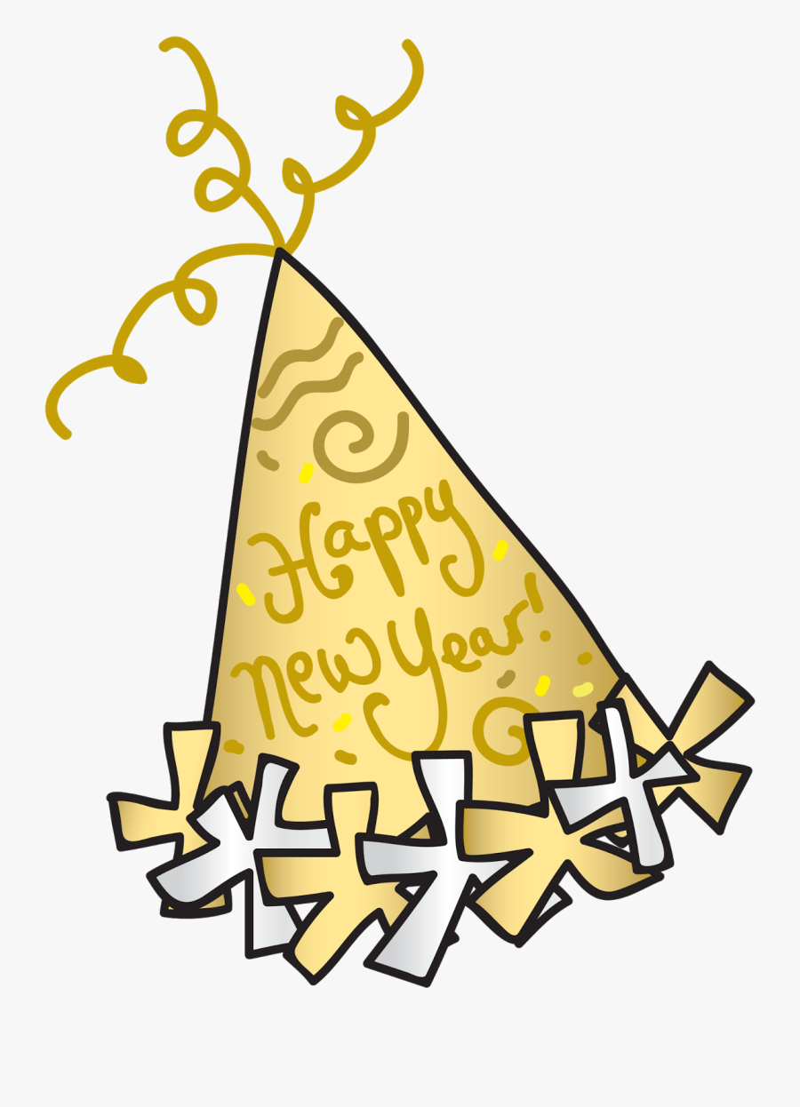 Party Hat Happy New Year Clipart Years Eve Transparent.