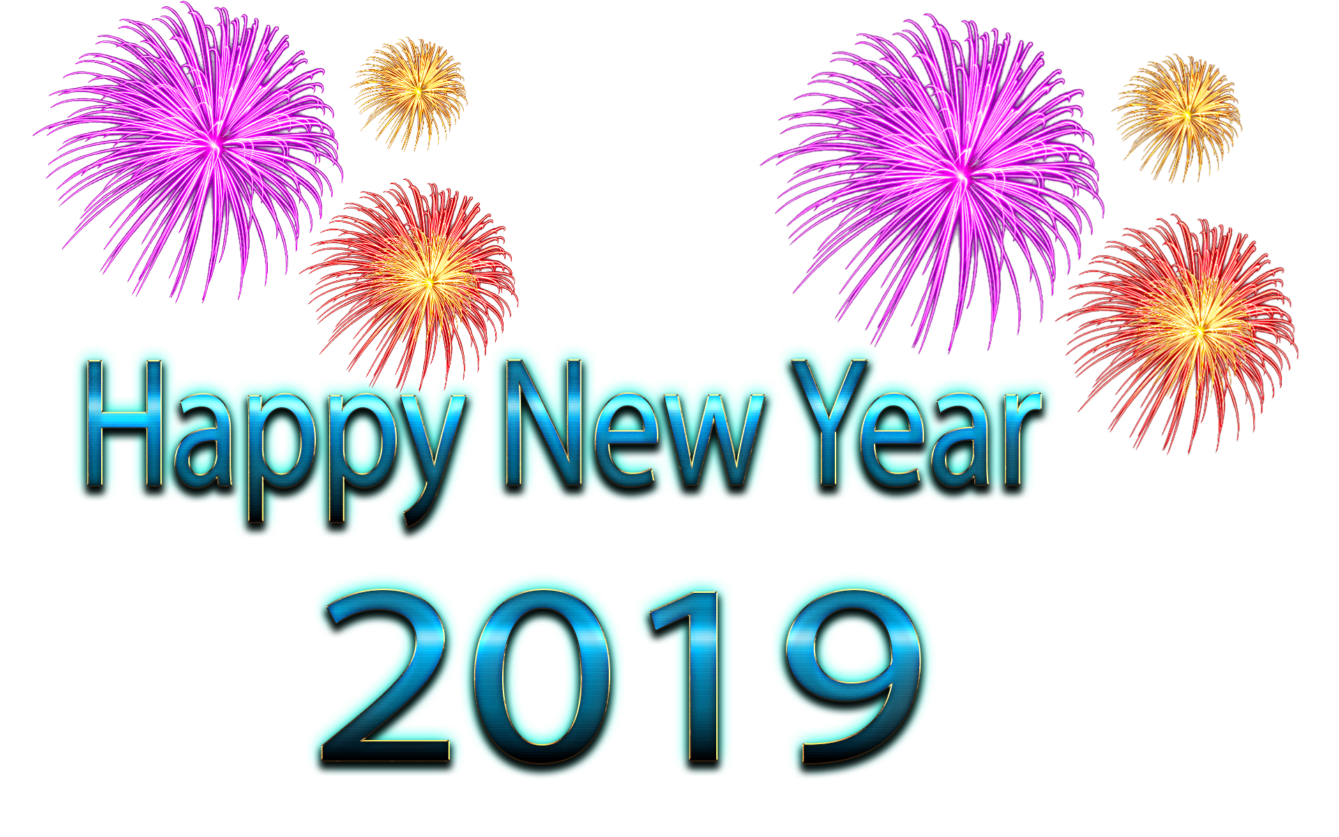 New Year PNG Free Pic.