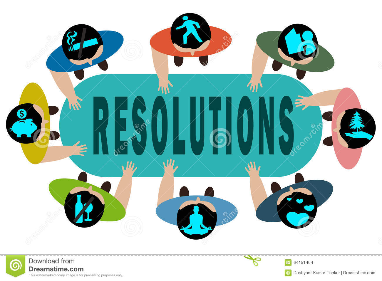 New Years Resolution stock illustration. Illustration of.