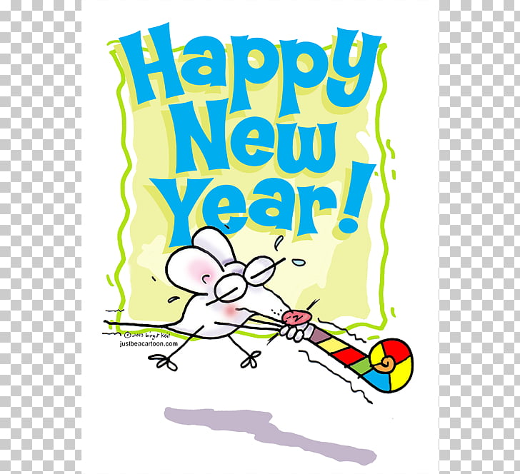 Cartoon New Years Day , New Year Cartoon s PNG clipart.