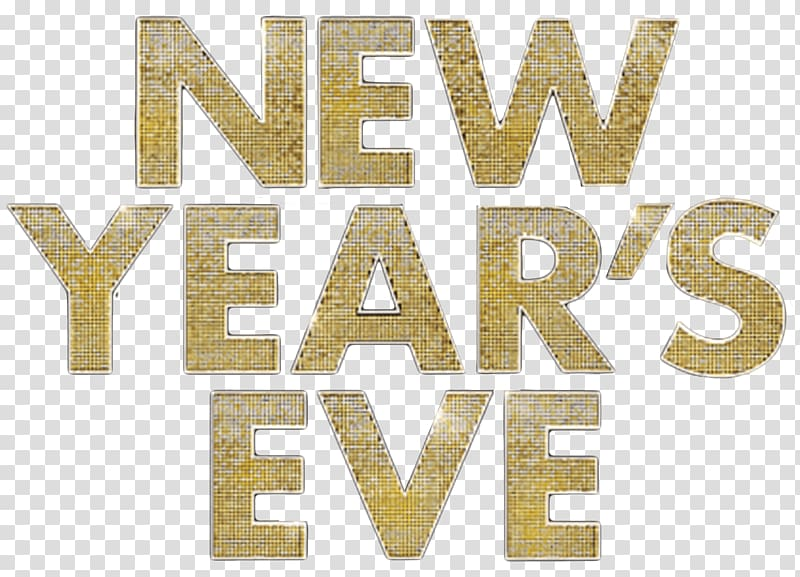 New Year\'s Eve text, New Years Eve Logo transparent.