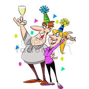 new years eve party invitation vector cartoon art clipart. Royalty.