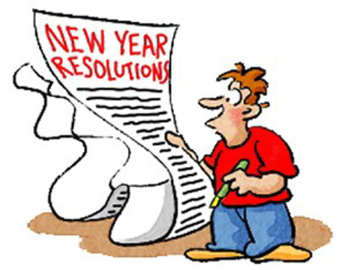 New Year Resolution Clipart.