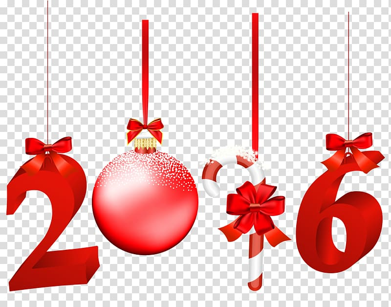 2016 template, Christmas New Year , 2016 Red transparent.