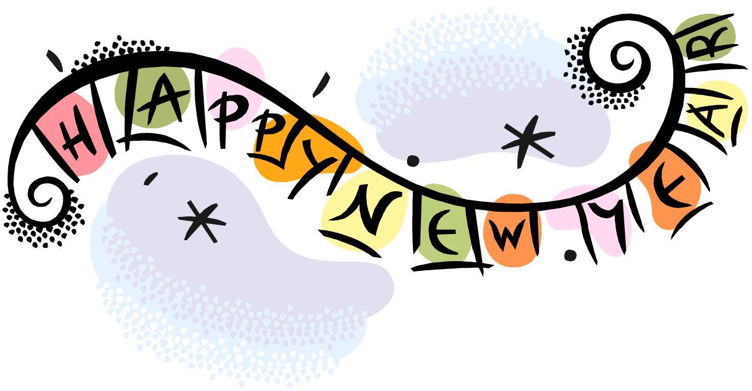 2328 Happy New Year free clipart.