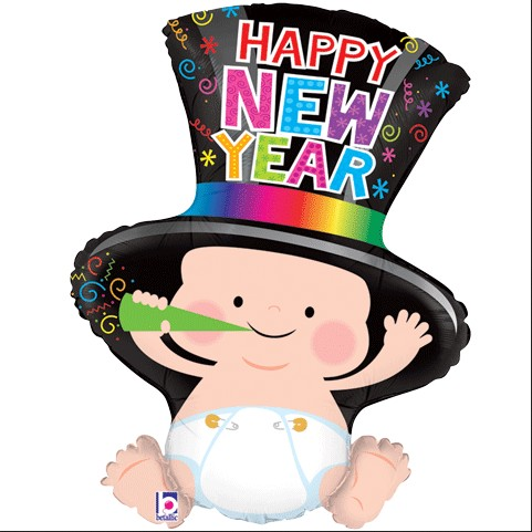 New year baby clipart.