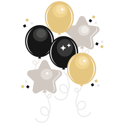New Year's Eve Balloons svg cutting files for scrapbooking.