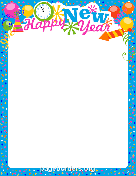 New Year Border Clipart.