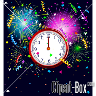 CLIPART HAPPY NEW YEAR CARD.