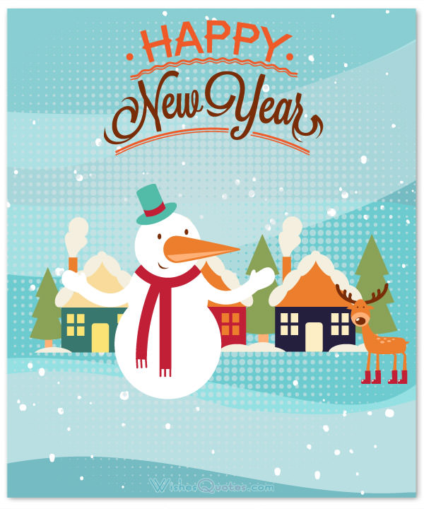Create happy new year card clipart.