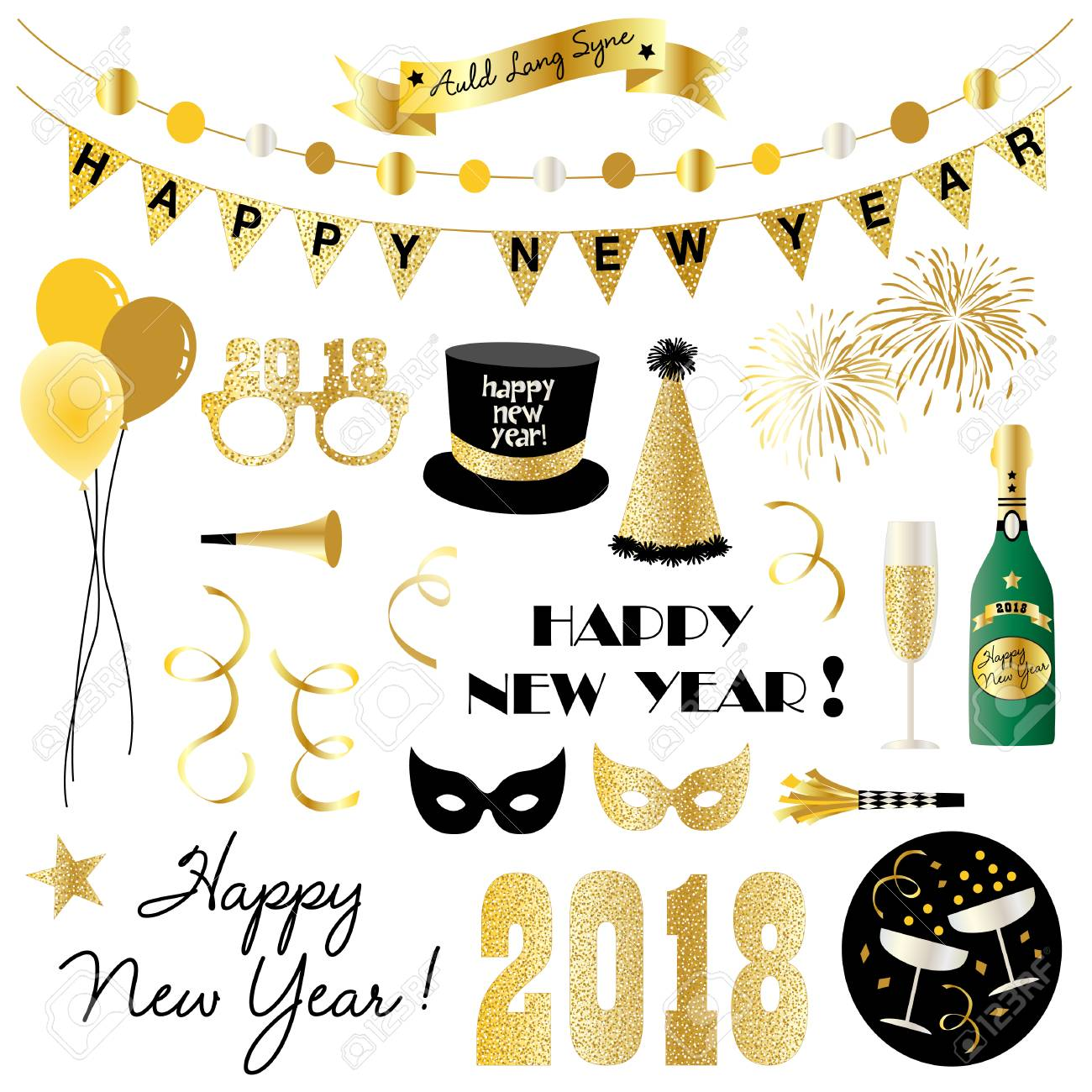 New years eve clipart..