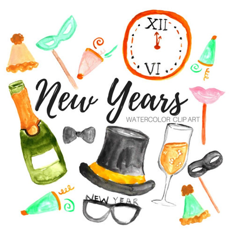 New years clip art.