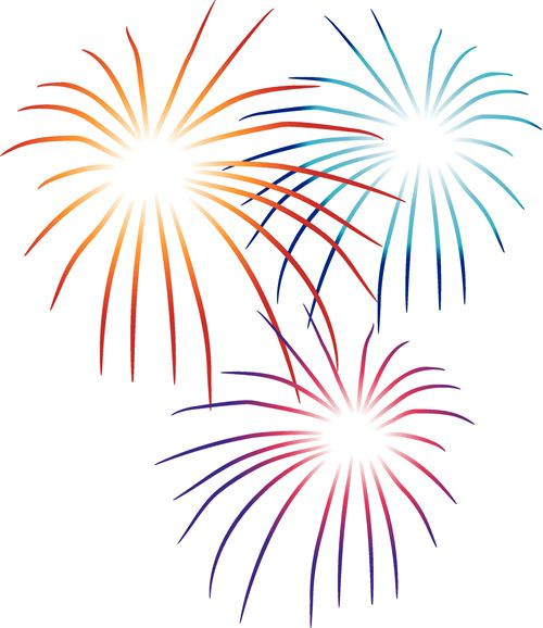 New Years Fireworks Clipart 2015.