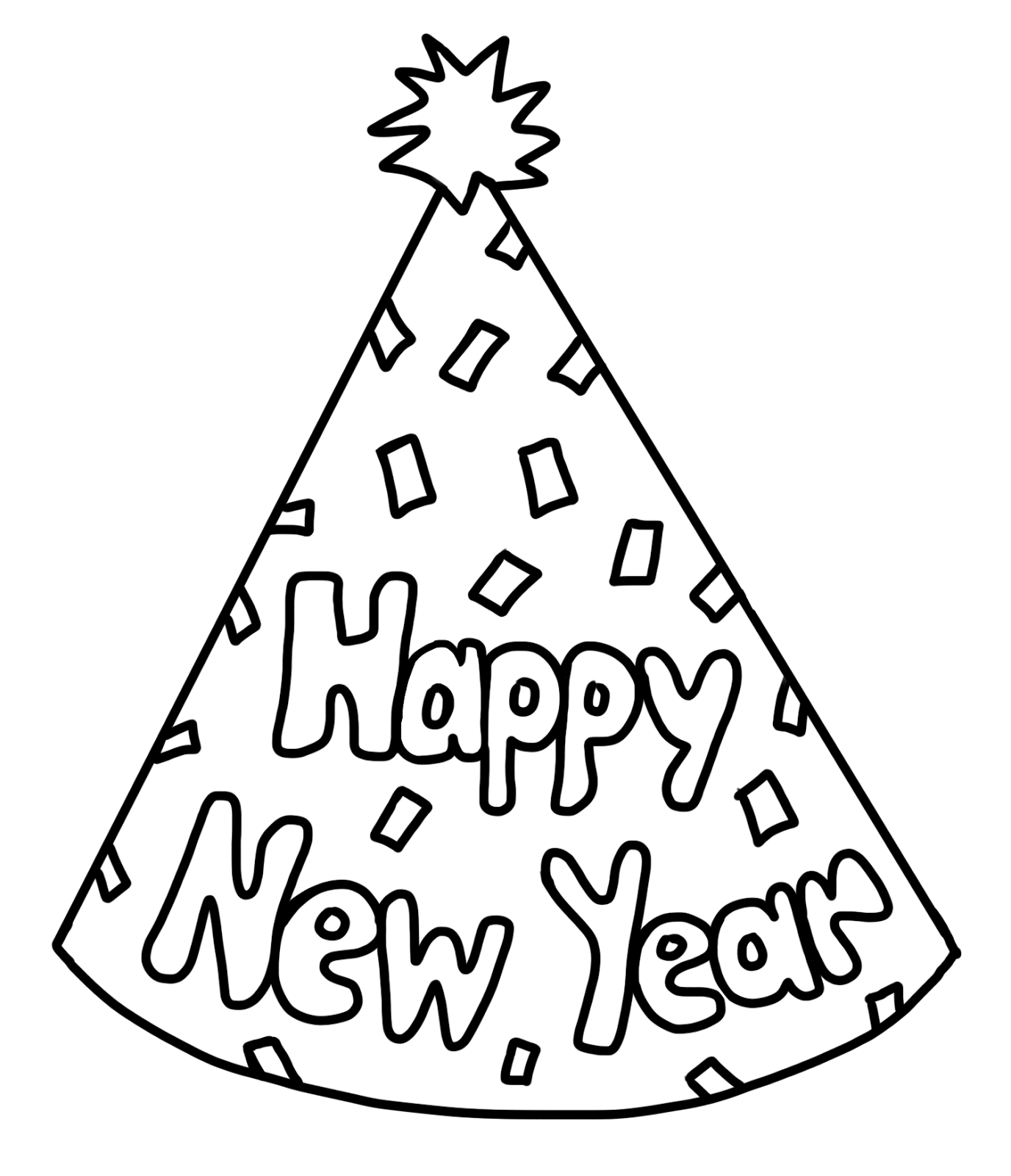 New year clipart black and white 6 » Clipart Portal.