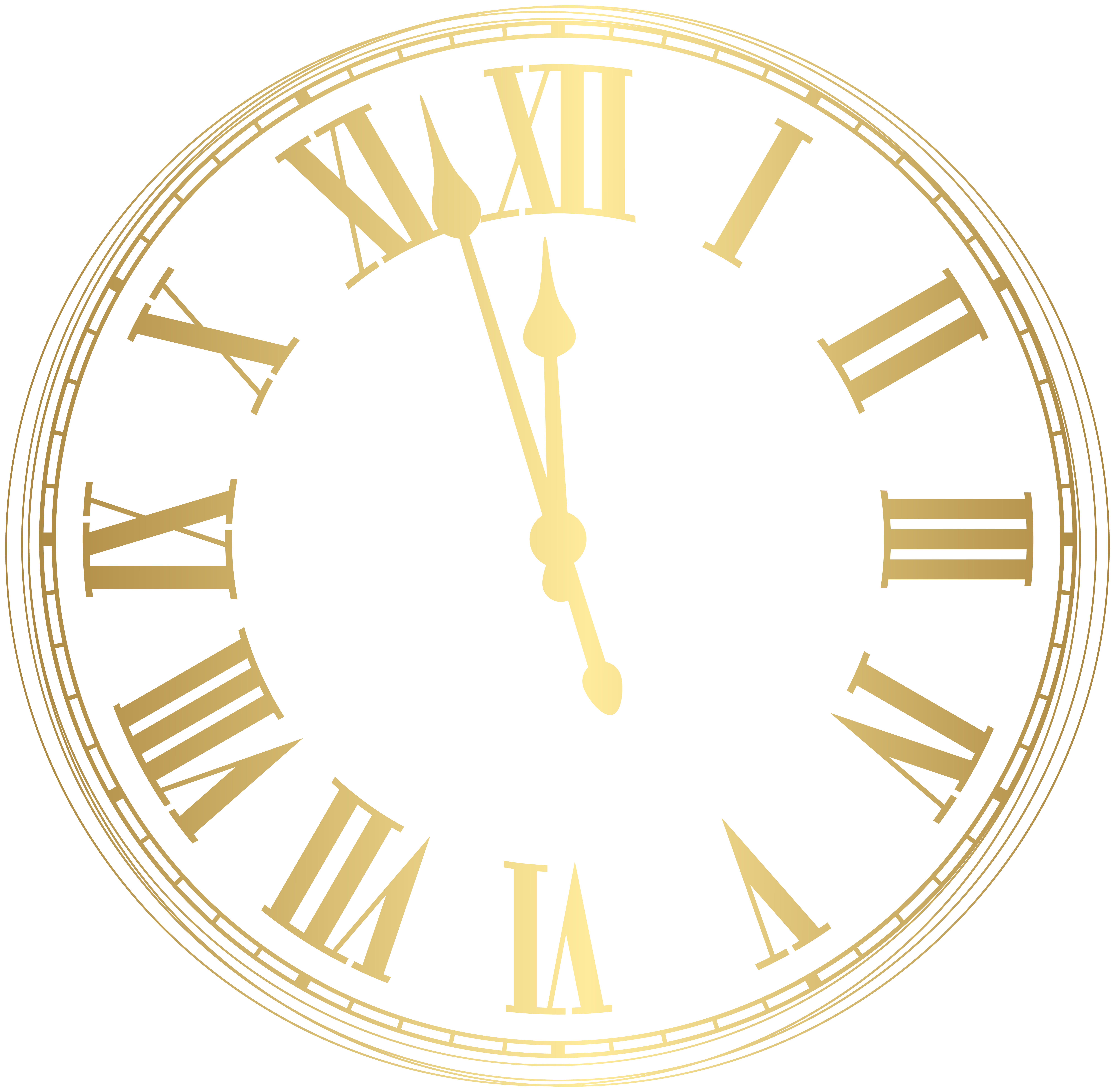 New Year Clock PNG Clip Art Image.