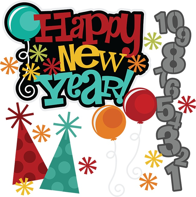 Happy New Year Celebration Clipart.