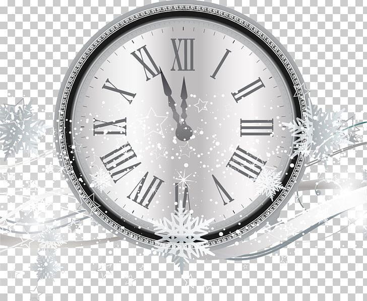 Countdown New Years Eve Clock PNG, Clipart, Black And White.