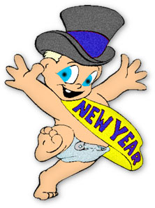 New year's day clipart.