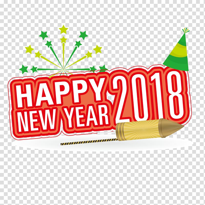 New Year\'s Day Fireworks, 2018 transparent background PNG.