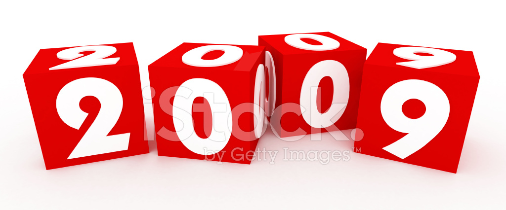 3d Cubes for New Year 2009 Stock Photos.