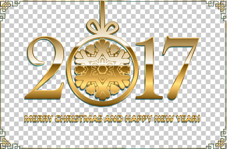 Computer file, Antique gold frame banner New Year\'s Eve 2017.