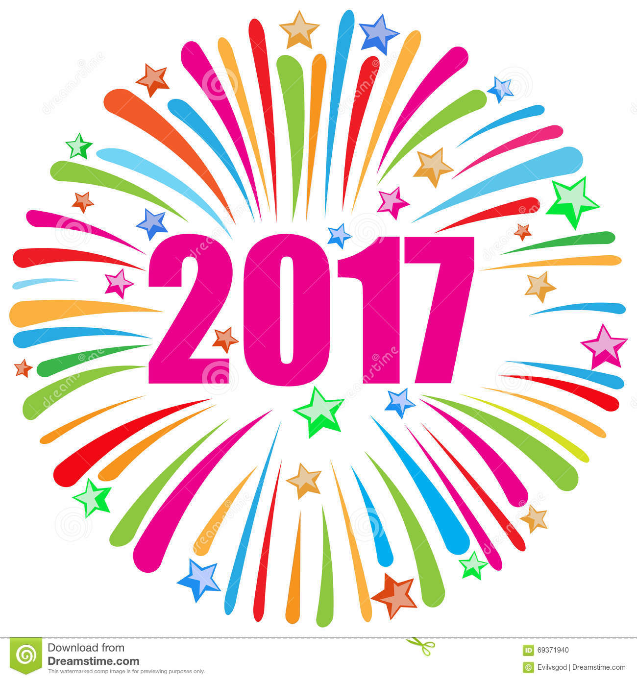 New Years Eve Clipart 2017.