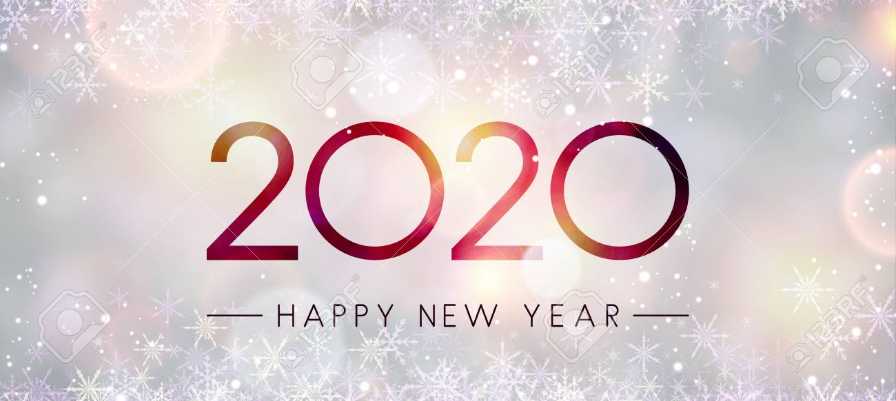 Happy New Year 2020 Banner Clipart.