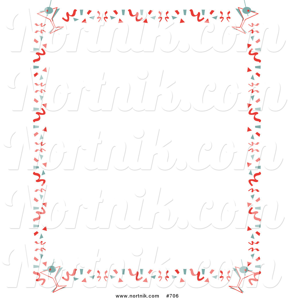 Clipart of New Years Eve Party Border by Andy Nortnik.