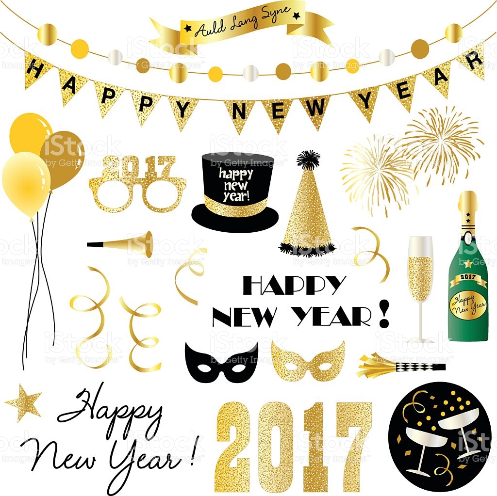New Years Eve Clipart stock vector art 614238788.