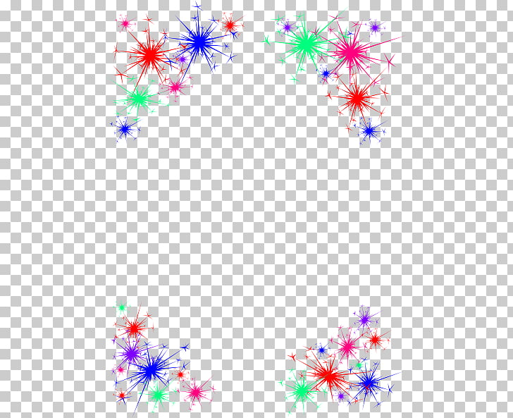 Fireworks New Year , Celebrate Border s PNG clipart.